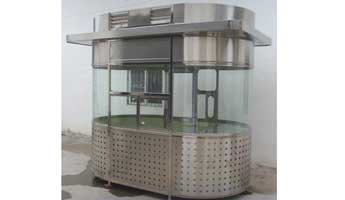 Stainless Steel Booths-006